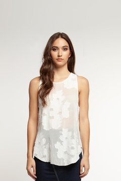 Shoptiques Product: Sheer Floral Tank