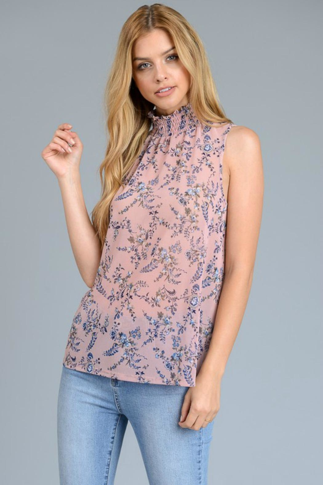 Le Lis Sheer Floral Top - Main Image