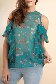 Umgee USA Sheer Floral Top - Product Mini Image