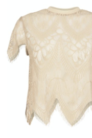 Bishop + Young SHEER GENIUS LACE TEE - Front full body