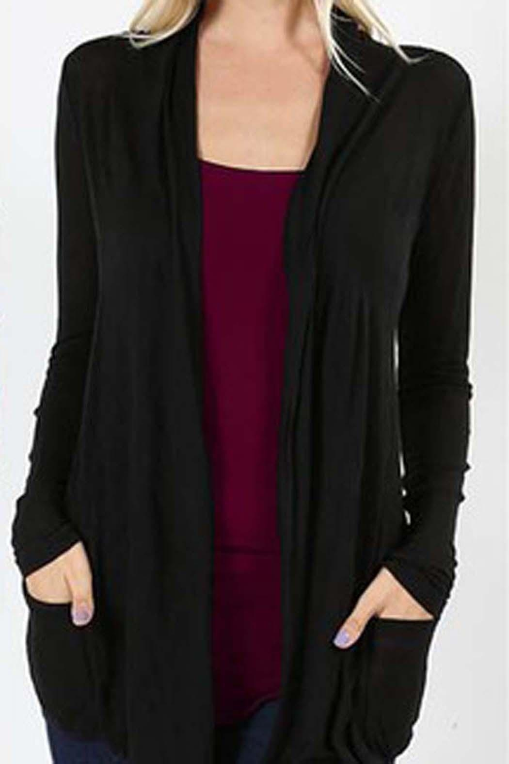 471425883d497 Zenana Outfitters Sheer Hacci Cardigan from New York by Avenue A ...