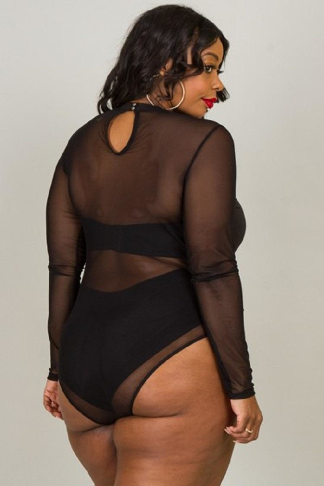5th Culture Sheer Heaven Bodysuit - Side Cropped Image