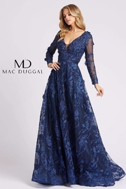 Mac Duggal Sheer Illusion Neckline Gown - Product Mini Image