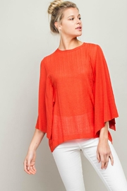 LLove USA Sheer Knit Top - Product Mini Image