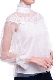On Twelfth Sheer Lace Blouse - Back cropped