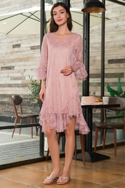 1920s Day Dresses, Tea Dresses, Mature Dresses with Sleeves Sheer Lace Dress $37.10 AT vintagedancer.com