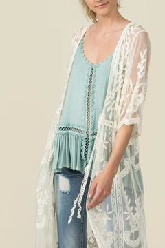 POL Sheer Lace Kimono - Alternate List Image