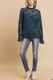 Umgee  SHEER LACE L/S TIP - Product Mini Image