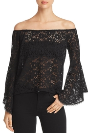Red Haute Sheer Lace Top - Product Mini Image