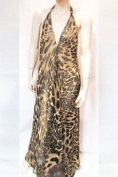Shoptiques Product: SHEER LEOPARD HALTER DRESS