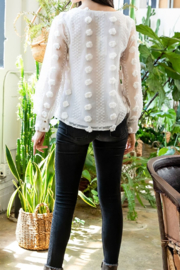 Thml Sheer Long Sleeve Top - Front full body