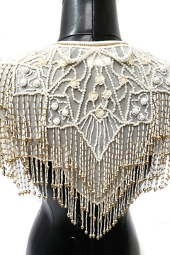 Apple Sheer Mesh Sequin Beads Shawl Poncho - Product List Image