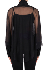 Joseph Ribkoff USA Inc. Sheer Mock-neck Batwing w Cami underlay - Back cropped