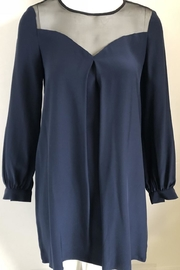 Amanda Uprichard Sheer Navy Dress - Product Mini Image