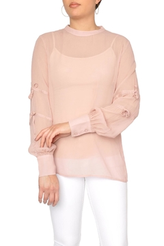 Just Female Sheer Pink Blouse - Product List Image