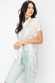 Favlux Sheer Plaid Shirt - Product Mini Image