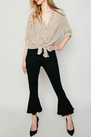 Hayden Los Angeles Sheer Polka-Dot Blouse - Product Mini Image