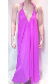 Indian Tropical SHEER PURPLE HALTER DRESS - Product Mini Image