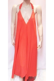 Indian Tropical SHEER RED HALTER DRESS - Product Mini Image