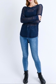 Love Tree Sheer Relaxed-Fit Sweater - Product Mini Image