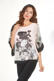 Frank Lyman Sheer Rose Top - Product Mini Image