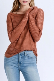 Love Tree Sheer Rust Sweater - Product Mini Image