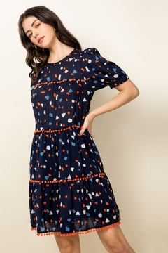 Shoptiques Product: Sheer Short Sleeve Confetti Dress