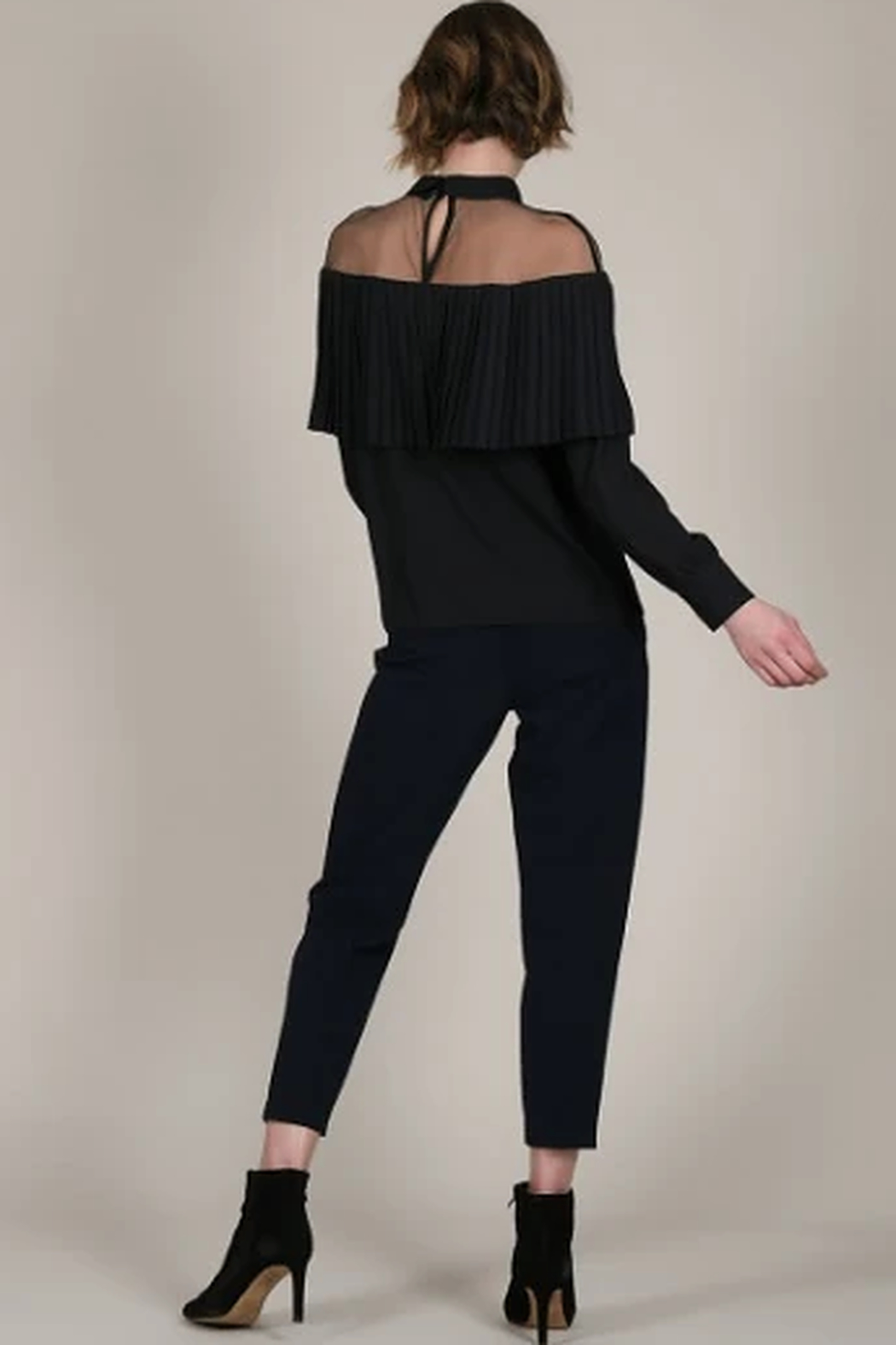 Molly Bracken Sheer shoulder top - Front Full Image