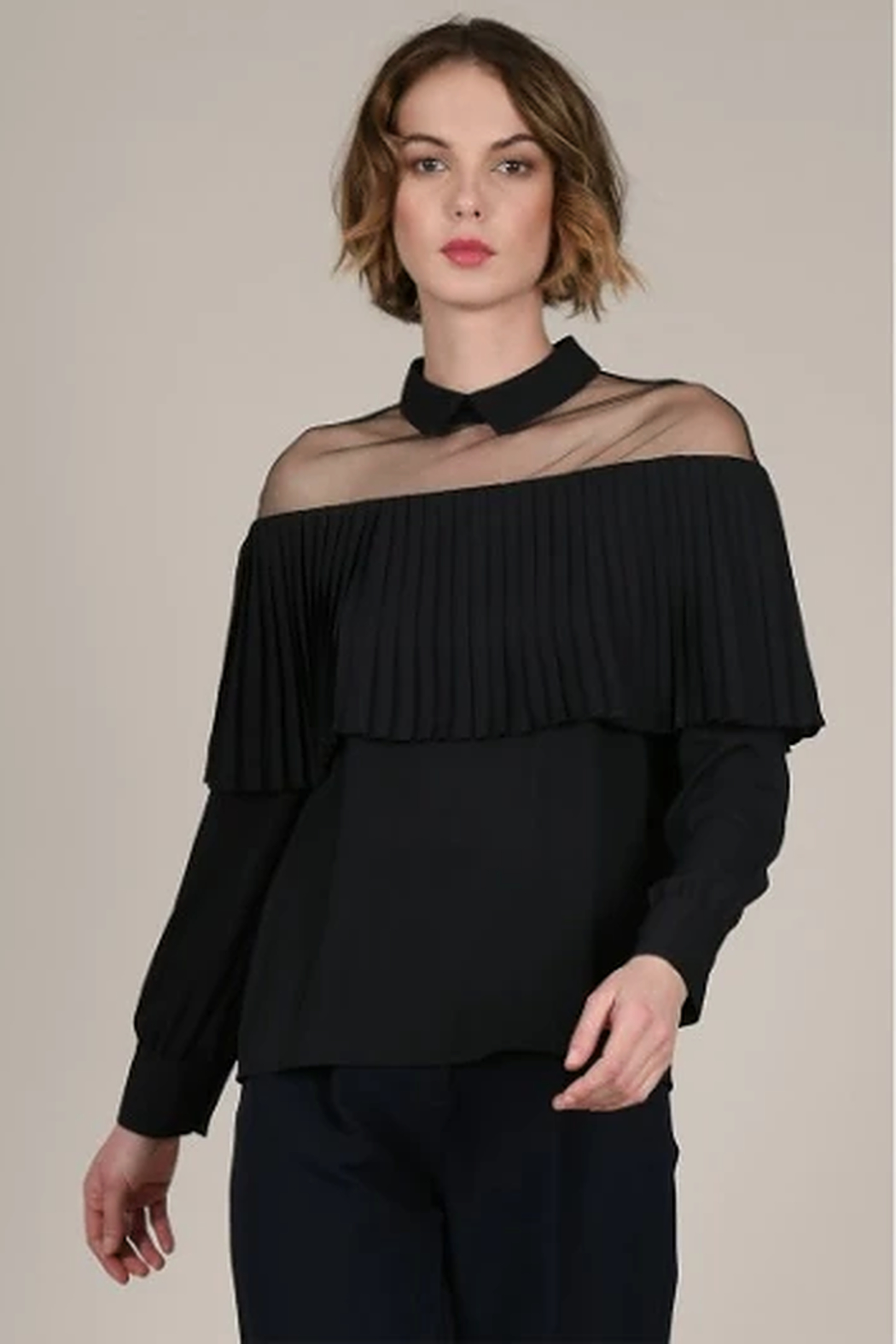 Molly Bracken Sheer shoulder top - Main Image