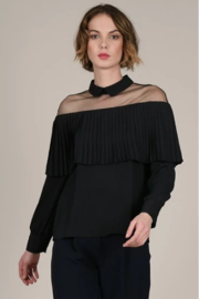 Molly Bracken Sheer shoulder top - Front cropped