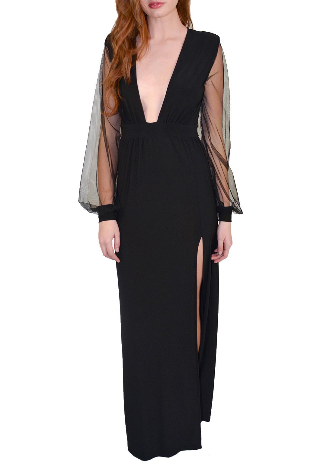 Alana Ferr Atelier Sheer Sleeve Dress - Front Full Image