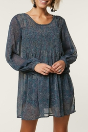 O'Neill Sheer-Smocked Poet's Dress - Product Mini Image