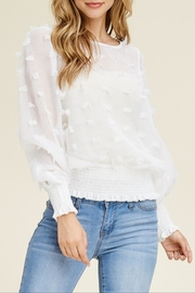 Solution Sheer Textured Blouse - Product Mini Image
