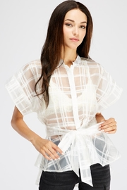 Jealous Tomato Sheer Tie Blouse - Product Mini Image