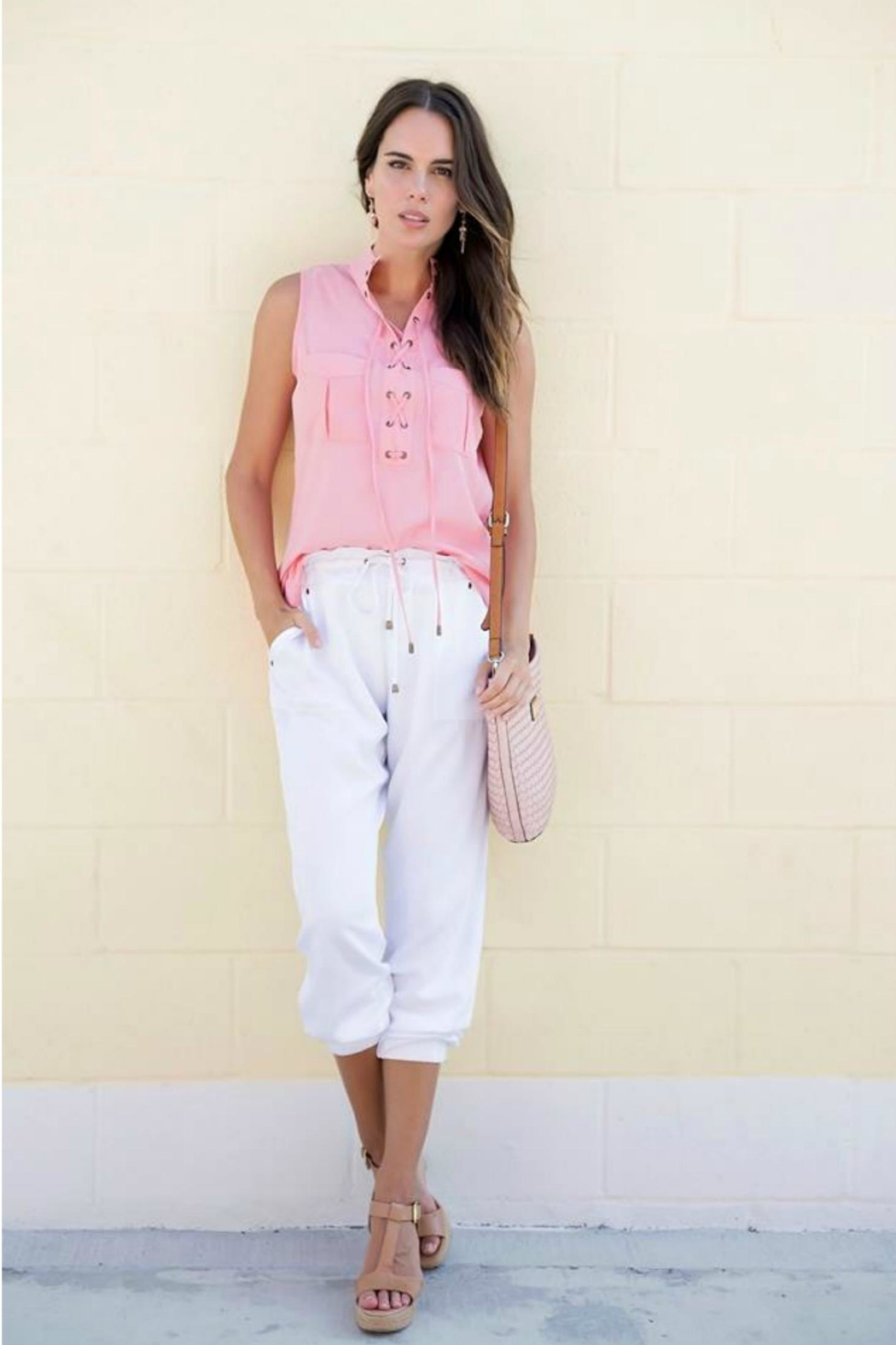 Simply Noelle Sheer Tie Tank - Front Cropped Image