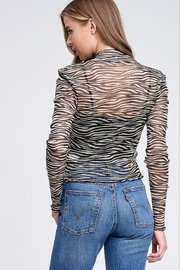 Emory Park Sheer Tiger Top - Side cropped