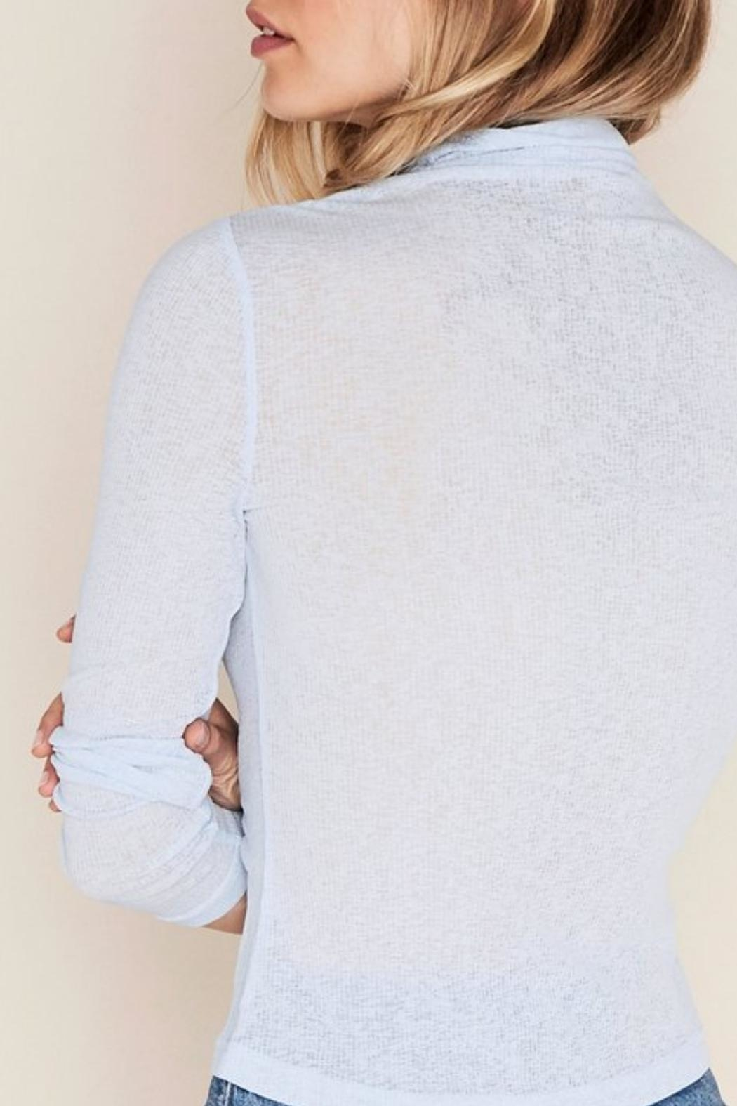 The The East Order Sheer Turtleneck - Front Full Image