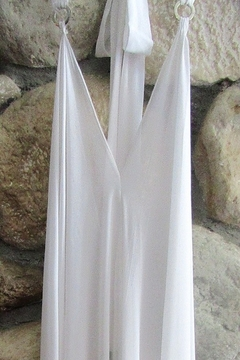 Shoptiques Product: SHEER WHITE HALTER DRESS