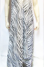 Indian Tropical SHEER ZEBRA HALTER DRESS - Front full body