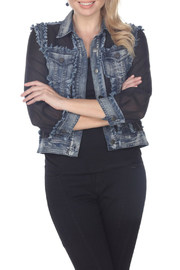 AZI Jeans Sheera Mesh & Denim Jacket - Product Mini Image