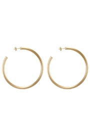 Sheila Fajl Brushed Gold Hoops - Front cropped