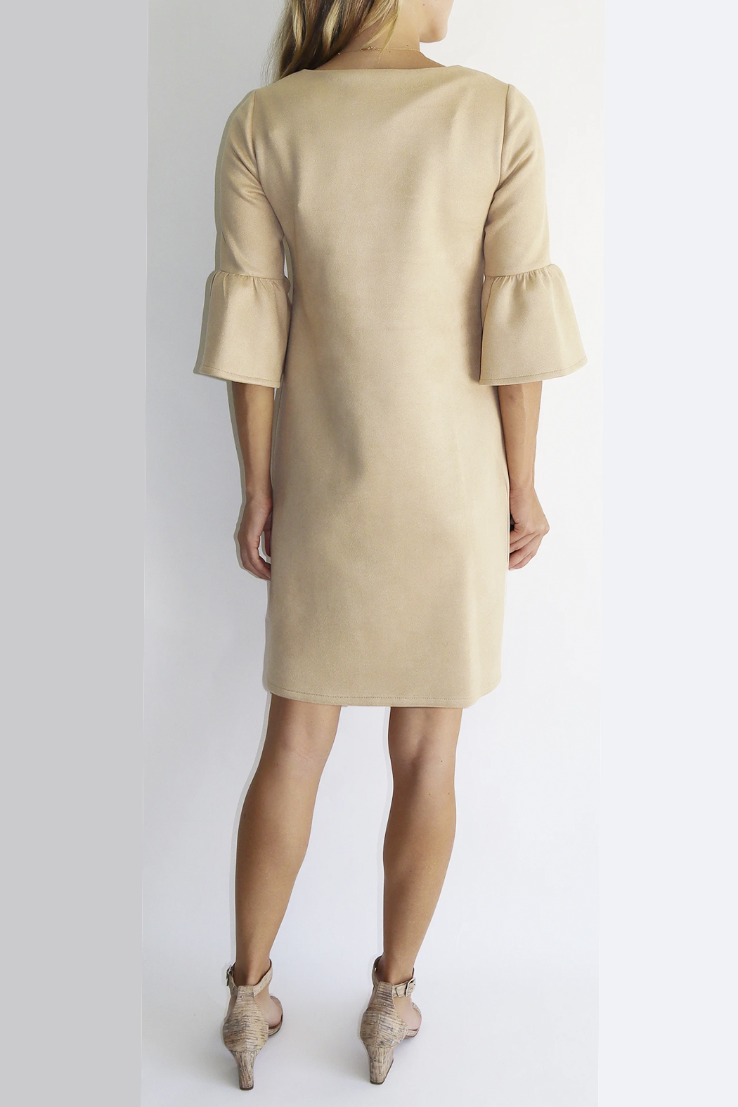 Jude Connally Shelby Faux Suede Dress - Front Full Image
