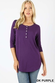 Zenana Outfitters Shell Button Top - Product Mini Image