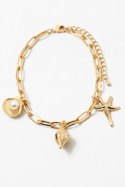 Embellish Shell Charm Bracelet - Product Mini Image