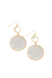 Fame Accessories Shell Circle Drop Earrings - Product Mini Image