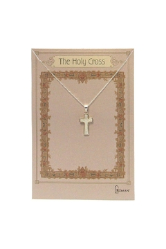Roman Shell Crucifix Necklace - Alternate List Image