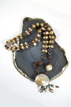 Silver Serpent Studio Shell Pearl Necklace - Product List Image