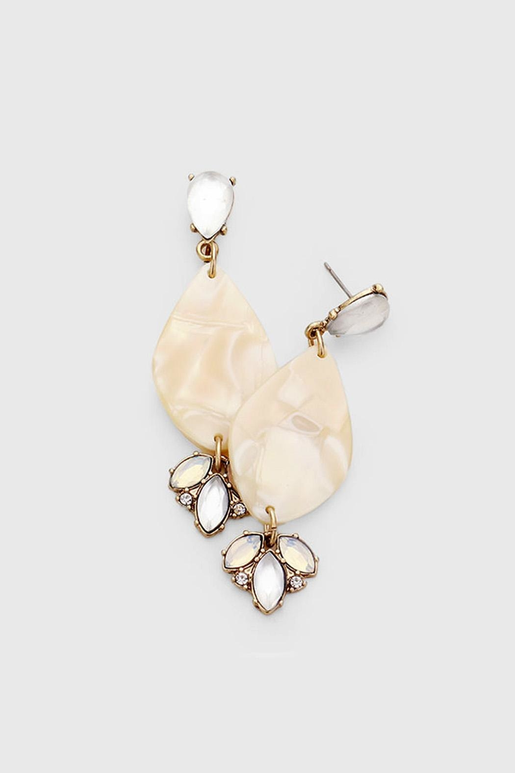 Wild Lilies Jewelry  Shell Statement Earrings - Main Image