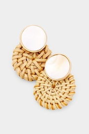 Embellish Shell Straw Earrings - Product Mini Image