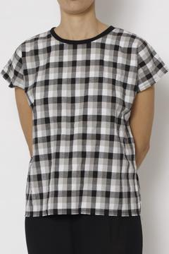 Shoptiques Product: Checked Pattern Blouse